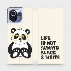 Flipové pouzdro Mobiwear na mobil Xiaomi Mi 11 - M041S Panda - life is not always black and white