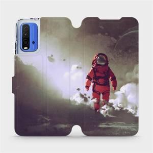 Flipové pouzdro Mobiwear na mobil Xiaomi Redmi 9T - MA07S Týpek ve skafandru