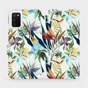 Flipové pouzdro Mobiwear na mobil Samsung Galaxy A02s - M071P Flóra