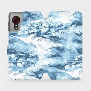 Flipové pouzdro Mobiwear na mobil Samsung Galaxy Xcover 5 - M058S Světle modrá horizontální pírka