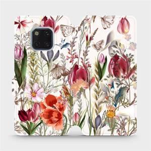 Flip pouzdro Mobiwear na mobil Huawei Mate 20 Pro - MP01S Rozkvetlá louka