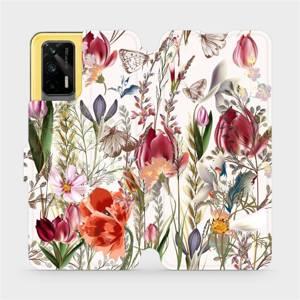 Flip pouzdro Mobiwear na mobil Realme GT 5G - MP01S Rozkvetlá louka