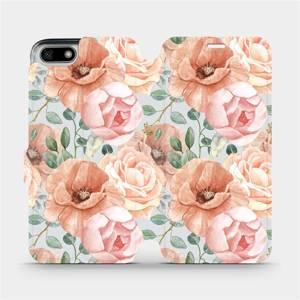 Flip pouzdro Mobiwear na mobil Honor 7S - MP02S Pastelové květy