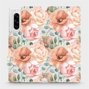 Flip pouzdro Mobiwear na mobil Sony Xperia 5 - MP02S Pastelové květy