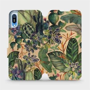 Flip pouzdro Mobiwear na mobil Huawei Y6 2019 - VP05S Sukulenty