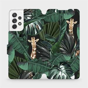 Flip pouzdro Mobiwear na mobil Samsung Galaxy A72 - VP06P Žirafky