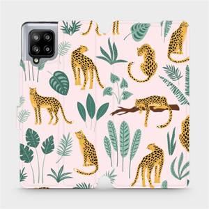 Flip pouzdro Mobiwear na mobil Samsung Galaxy A42 5G - MP07S Leopardi