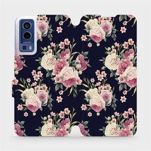 Flip pouzdro Mobiwear na mobil Vivo Y72 5G / Vivo Y52 5G - V068P Růžičky