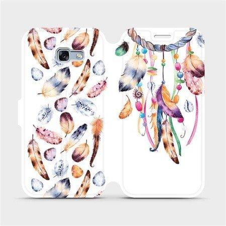 Flipové pouzdro Mobiwear na mobil Samsung Galaxy A3 2017 - M003S Lapač a barevná pírka
