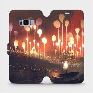 Flipové pouzdro Mobiwear na mobil Samsung Galaxy S8 - VA01S Lampiony a muž v lodičce
