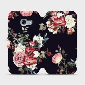 Flipové pouzdro Mobiwear na mobil Samsung Galaxy A3 2017 - VD11P Růže na černé