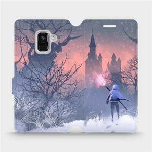 Flipové pouzdro Mobiwear na mobil Samsung Galaxy A8 2018 - MA11S Bojovník s harpunou