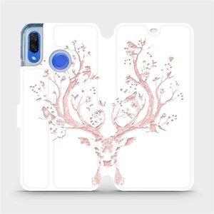 Flipové pouzdro Mobiwear na mobil Huawei Nova 3 - M007S Růžový jelínek