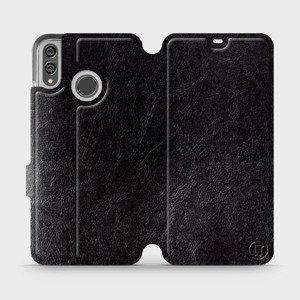 Flipové pouzdro Mobiwear na mobil Honor 8X v provedení C_BLS Black&Gray s šedým vnitřkem