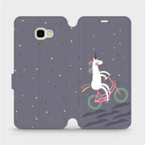 Flipové pouzdro Mobiwear na mobil Samsung Galaxy J4 Plus 2018 - V024P Jednorožec na kole