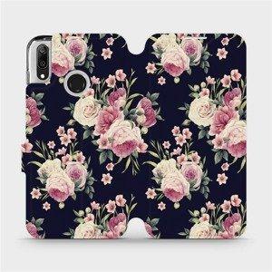 Flipové pouzdro Mobiwear na mobil Huawei Y7 2019 - V068P Růžičky