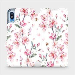 Flipové pouzdro Mobiwear na mobil Huawei Y6 2019 - M124S Růžové květy