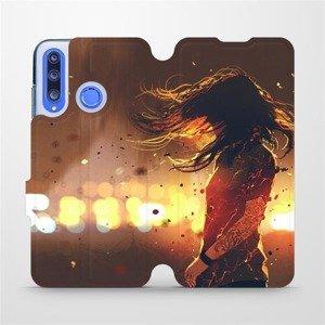 Flipové pouzdro Mobiwear na mobil Honor 20 Lite - MA02S Tetovaná dívka