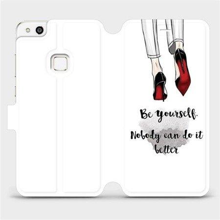 Flipové pouzdro Mobiwear na mobil Huawei P10 Lite - M046P Be yourself