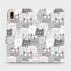 Flipové pouzdro Mobiwear na mobil Huawei Y5 2019 - M099P Kočičky