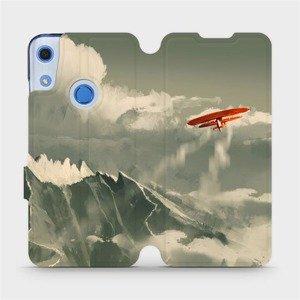 Flipové pouzdro Mobiwear na mobil Huawei Y6S - MA03P Oranžové letadlo v horách