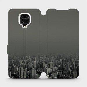 Flipové pouzdro Mobiwear na mobil Xiaomi Redmi Note 9 Pro - V063P Město v šedém hávu