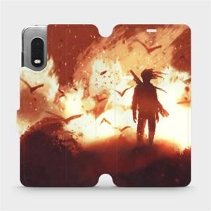 Flipové pouzdro Mobiwear na mobil Samsung Xcover PRO - MA06S Postava v ohni