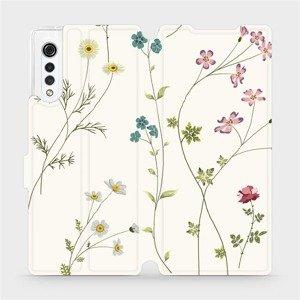 Flipové pouzdro Mobiwear na mobil LG Velvet - MD03S Tenké rostlinky s květy
