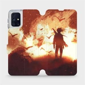 Flipové pouzdro Mobiwear na mobil Samsung Galaxy M31s - MA06S Postava v ohni