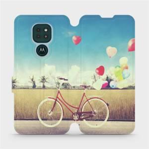Flipové pouzdro Mobiwear na mobil Motorola Moto G9 Play - M133P Kolo a balónky