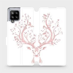 Flipové pouzdro Mobiwear na mobil Samsung Galaxy A42 5G - M007S Růžový jelínek