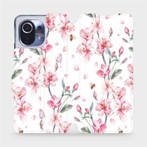 Flipové pouzdro Mobiwear na mobil Xiaomi Mi 11 - M124S Růžové květy