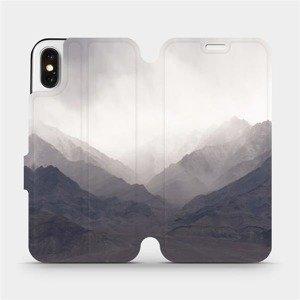 Flipové pouzdro Mobiwear na mobil Apple iPhone X - M151P Hory