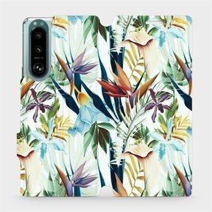 Flip pouzdro Mobiwear na mobil Sony Xperia 5 III - M071P Flóra