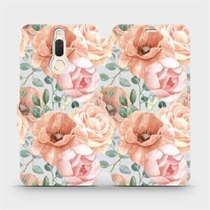 Flip pouzdro Mobiwear na mobil Huawei Mate 10 Lite - MP02S Pastelové květy