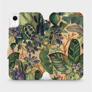 Flip pouzdro Mobiwear na mobil Apple iPhone XR - VP05S Sukulenty