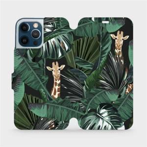 Flip pouzdro Mobiwear na mobil Apple iPhone 12 Pro Max - VP06P Žirafky