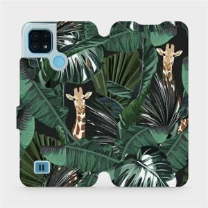 Flip pouzdro Mobiwear na mobil Realme C21 - VP06P Žirafky