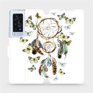 Flip pouzdro Mobiwear na mobil Vivo X60 Pro 5G - M001P Lapač a motýlci