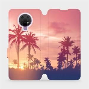 Flip pouzdro Mobiwear na mobil Nokia G10 - M134P Palmy a růžová obloha
