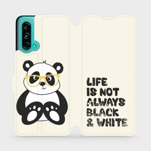 Flip pouzdro Mobiwear na mobil OnePlus Nord CE 5G - M041S Panda - life is not always black and white