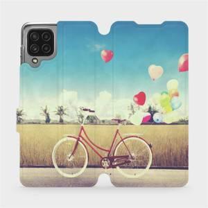 Flip pouzdro Mobiwear na mobil Samsung Galaxy M22 - M133P Kolo a balónky