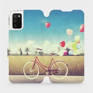 Flip pouzdro Mobiwear na mobil Samsung Galaxy A03s - M133P Kolo a balónky