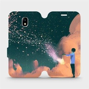 Flipové pouzdro Mobiwear na mobil Samsung Galaxy J5 2017 - VA14P Postava s lampou
