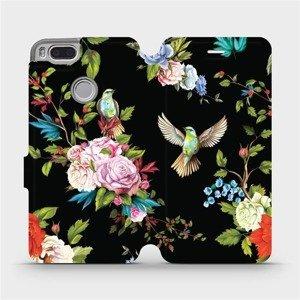 Flipové pouzdro Mobiwear na mobil Xiaomi Mi A1 - VD09S Ptáčci a květy