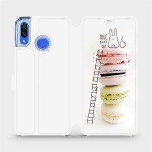 Flipové pouzdro Mobiwear na mobil Huawei Nova 3 - M090P Makronky - have a nice day
