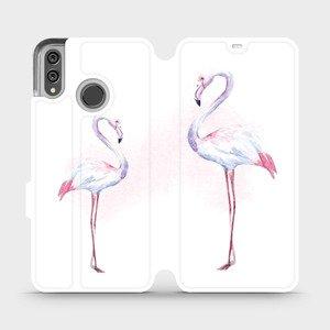 Flipové pouzdro Mobiwear na mobil Honor 8X - M005S Plameňáci
