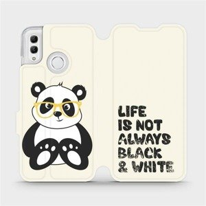 Flipové pouzdro Mobiwear na mobil Honor 10 Lite - M041S Panda - life is not always black and white