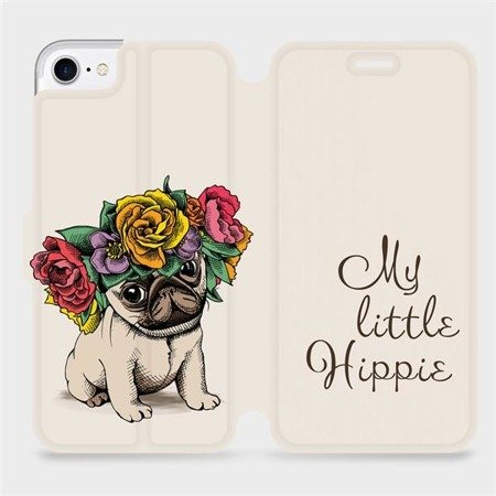 Flipové pouzdro Mobiwear na mobil Apple iPhone 7 - M039P Mopsík My Little Hippie