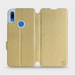 Flipové pouzdro Mobiwear na mobil Huawei P Smart Z v provedení C_GOS Gold&Gray s šedým vnitřkem